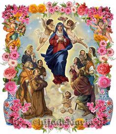 ¡Causa de nuestra alegría, ruega por nosotros! ¡Auxilio de los cristianos, ruega por nosotros!
