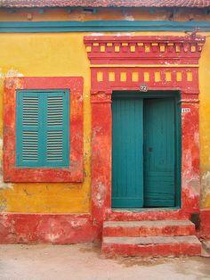 Turquoise door...