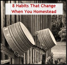 Habits_That_Change_When_You_Homestead - I haven't been a 'steader very long, but I totally agree with all this!