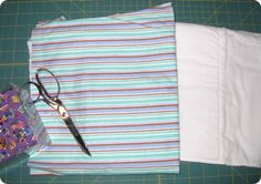 Burp Cloth Tutorial - DIY - flannel and diapers - it really absorbs! :)