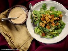 Connoisseurus Veg: Vegan Tahini Caesar with Lemon Garlic Tempeh Croutons