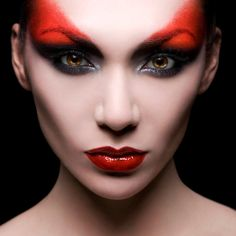 Devilish makeup