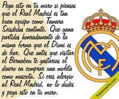 Resultado de imagen para imagenes del madrid con frases Real Madrid, Bernabeu, Truths, Frases, Singers