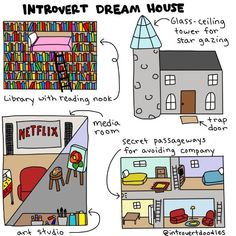 I love this drawing, i would build this if i could Memes & Quotes That Perfectly Describe the INFJ Funny Memes, Hilarious, Fun Funny, Super Funny, Book Memes, Mbti, Book Worms, Book Lovers, I Laughed