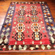 Vintage turkish kilim rug Handwoven kilim rug pastel by islimi