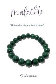 Your love runs as deep and intense as the green on this Malachite bracelet. The stunning gemstone is an expression of your heart. Click to shop Satin Crystals now or Pin to save for later. #crystals #gemstones #bracelets #jewelry Chakra Healing, Crystal Healing, Broken Love, Friendship Love, Love Run, Crystal Gifts, Malachite, A Boutique, How Are You Feeling