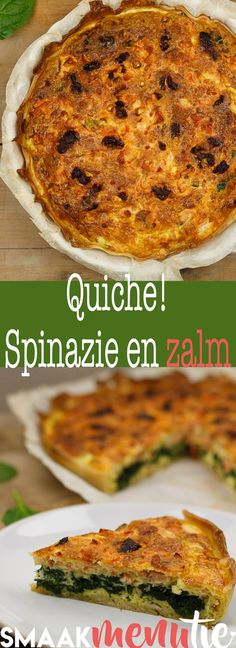 Quiche zalm spinazie #recept #quiche #recipe