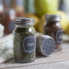 Organize your spice cabinet with these chalkboard style printable labels for all of your herbs and spices.