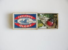 Who else used to collect bugs in matchboxes when they were little?! tiny ladybird in a matchbox made from paper by artist Kate Kato https://www.etsy.com/listing/234365696/tiny-ladybird-in-a-matchbox-paper