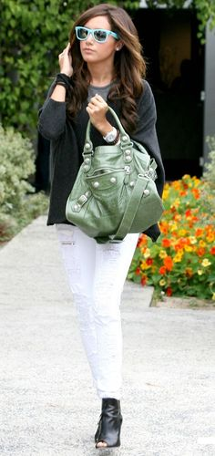 Ashley Tisdale.... Love her pants and sunglasses!!!!