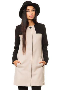 BB Dakota Coat Hana Colorblock Melton in Grey promo code: nshit