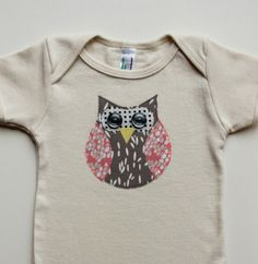 Pink and Grey Girl Owl  Appliqued American by littlebluefeather, $15.95