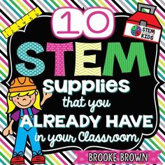 I am often asked how to get started with STEM in the regular education classroom, and even more often, what supplies are necessary. As a former classroom teacher, I remember well that the ONE thin… Stem Science, Teaching Science, Mad Science, Stem Activities, Activities For Kids, Classroom Teacher, Science Classroom, Classroom Tools, Elementary Science