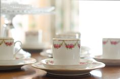 Vintage tea set. Perfect for afternoon tea in the garden.