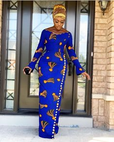 Lovely African Print Dress, Classic Ankara Dress, African Dress - Women's style: Patterns of sustainability Latest African Fashion Dresses, African Dresses For Women, African Print Fashion, Africa Fashion, African Attire, Ankara Styles For Women, African Style Clothing, African Prints, Modern African Fashion