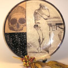 Vintage Skeleton Glass Plate from Parachute425