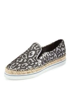 Dawn+Lasered+Leopard-Print+Espadrille,+Steel+by+Jimmy+Choo+at+Neiman+Marcus.