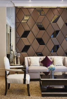 Last Trending Get all images interior design for drawing room wall Viral c acc d c a e bcfb Wall Panel Design, Partition Design, Wooden Wall Design, Partition Walls, Wall Panelling, Living Room Designs, Living Room Decor, Interior Walls, Interior Design