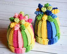 CROCHET PATTERN  Tutti Frutti  a colorful hat with door TheHatandI