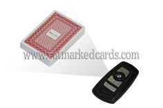 The car key with a HD lens inside, operated with poker analyzer and edge marked cards, is used for cheating in Texas Holdem, Omaha, Blackjack, Baccarat, Flush, Andar Bahar and other poker games. http://www.catmarkedcards.com/products/marked-cheating-device/spy-camera-system/Car-Key-Camera-Lens-for-Poker-Analyzer.html