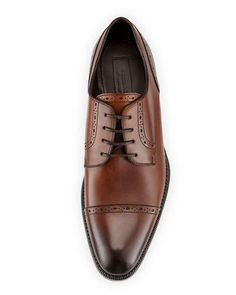 Brown Cap-Toe Derby Shoes by Ermenegildo Zegna Mens Fashion Shoes, Men S Shoes, Men's Fashion, Skinny Fit Suits, Gifts For Hubby, Leather Dress Shoes, Derby Shoes, Rubber Shoes, Brown Shoe