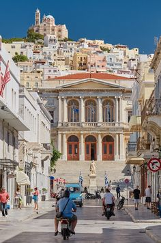 The Architect Of Syros Greece Cool Places To Visit, Places To Travel, Places Around The World, Around The Worlds, Beautiful World, Beautiful Places, Syros Greece, Empire Ottoman, Travel Couple