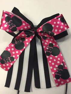 A personal favorite from my Etsy shop https://www.etsy.com/listing/223270901/minnie-mouse-themed-hair-bow