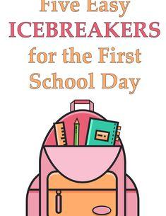 (Classroom Icebreakers - Be your best teacher! First Day Icebreakers, Classroom Icebreakers, Icebreakers For Kids, Icebreaker Activities, First Day Of School Activities, 1st Day Of School, Beginning Of School, School Classroom, Classroom Ideas