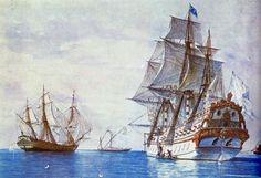 Navíos franceses, por Rafael Monleón, Museo Naval. Más en www.elgrancapitan.org/foro