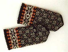 High quality hand knitted warm wool mittens  by Handicraftart, $30.00