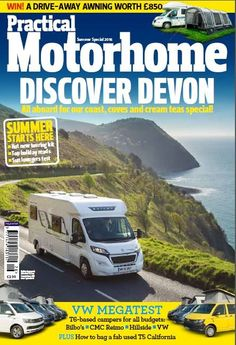 Summer special issue!  Discover Devon, all aboard for our coast, coves and cream tea special!  VW megatest - T6 based campers for all budgets: Bilbo's, CMC Reimo, Hillside & VW.  Win £850 drive-away awning