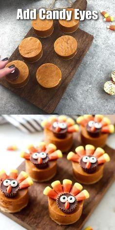 Adorable Thanksgiving Pumpkin Pie Turkeys