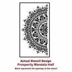 """Mandala Stencil Prosperity - Reusable Stencils for Walls - Stencils for DIY Wall Decor - Trendy Easy Fun Wall Decor - By Cutting Edge Stencils (24"""") - - Amazon.com"""