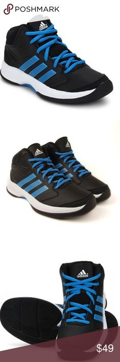 Adidas Isolation K Black Basketball Shoes boys New but no box   Adidas's Isolation Basketball Shoes ensure superior traction on the court. These basketball shoes are an ideal update to your wardrobe. The smart and trendy AD G98390 Isolation Basketball Shoes by Adidas comes with the stunning combination of black and blue. These shoes are designed with a lace up closure that adds to the incredibly stylish look. Offering a comfortable fit and firm grip on the court, the AD G98390 Isolation…