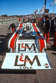 Jackie Stewart and his 'Cowcatcher Winged' Lola T260 Chev, Laguna Seca 1971.
