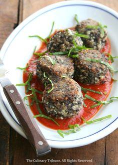 Mushroom Meatballs - vegan