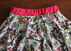 Different Ways to Sew a Waistband on the Twirly Skorts