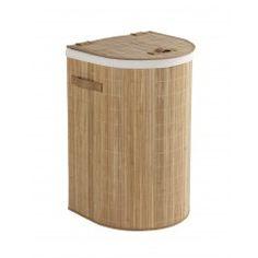 WENKO Wäschetruhe Bambooleo Halbrund