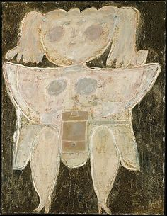 Woman Grinding Coffee, Jean Dubuffet, 1945. I could build an entire house around this painting!