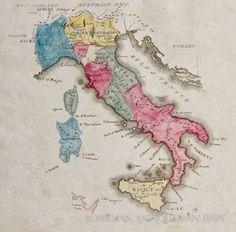 Italy 1822 CARTOGRAPHY