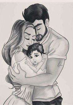 Image uploaded by Türk Kızı. Find images and videos about love, art and couple on We Heart It - the app to get lost in what you love. Girl Drawing Sketches, Art Drawings Sketches Simple, Love Drawings, Drawing Art, Mother Daughter Art, Mother Art, Father Daughter Photos, Sarra Art, Pregnancy Art