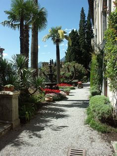 Mediterranean Garden, Varenna,giardini della Villa Monastero, Italy