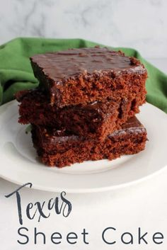 There are so many things to love about a Texas sheet cake. In fact, my family loves them so much that we have a whole collection of recipes in quite a few different flavors. However there is just something about the original chocolaty Texas sheet cake. It is the perfect combination of soft cake and rich fudgy fuss free icing. It brings back all the tasty nostalgia! Tart Recipes, Cupcake Recipes, Cookie Recipes, Dessert Recipes, Uk Recipes, Healthy Dessert Options, Easy Desserts, Easy Baking Recipes, Unique Cakes