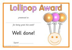 free printable candy award certificates for students