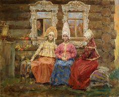"""Сказка """"Хаврошечка"""" http://russkaja-skazka.ru/havroshechka/ А были у ее хозяйки три дочери. Старшая звалась Одноглазка, средняя — Двуглазка, а меньшая — Триглазка. Дочери только и знали, что у ворот сидеть, на улицу глядеть...  #сказки #картинки #КрошечкаХаврошечка #art #Russia #Россия #добро #дети  #иллюстрации #paint #картины #художник  #RussianFairyTales @russkajaskazka"""