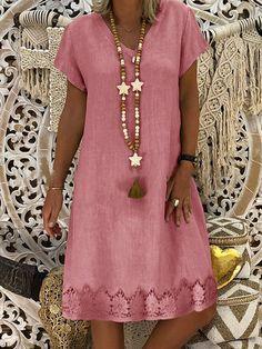 Casual Dresses, Short Sleeve Dresses, Summer Dresses, Dresses With Sleeves, Dresses Dresses, Casual Clothes, Beach Dresses, Long Dresses, Casual Outfits