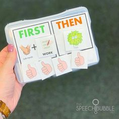 Tips for using visuals and photo boxes in speech therapy.