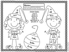 This file includes 23 math color by code (color by number) pages that cover the basic addition and subtraction facts 0-20. The common core standards covered are listed on each page. Use of these pages encourages and reinforces skills taught; yet the students are having fun while learning. TPT $