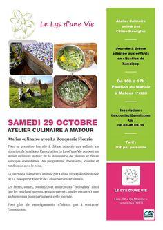 Atelier culinaire le 29 octobre 2016 à Matour : http://clun.yt/2dHStoh