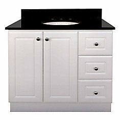 Classic Vanity with 2 doors & 3 Drawers, MDF, Canada one pro Cabinet Space, Vanity Cabinet, 36 Inch Vanity, Ornamental Mouldings, White Vanity, Kitchen Cabinet Organization, Base Cabinets, Home Reno, Kitchen And Bath